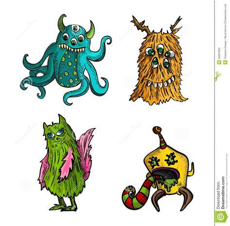 imagenes de halloween vector los monstruos de halloween aislaron a las criaturas del