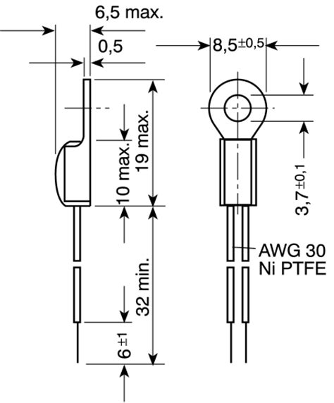 ntc thermistor b constant type k45 ntc thermistor 10k 125degc part no b57045k103k manufactured by epcos technical