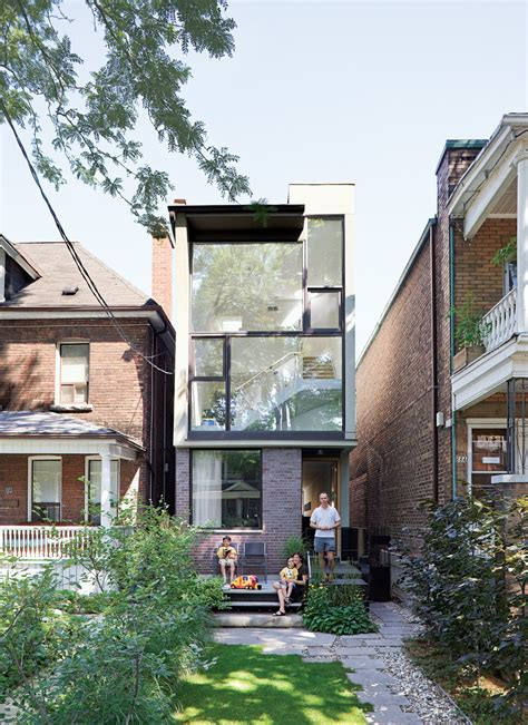 narrow modernist three story home in toronto dwell