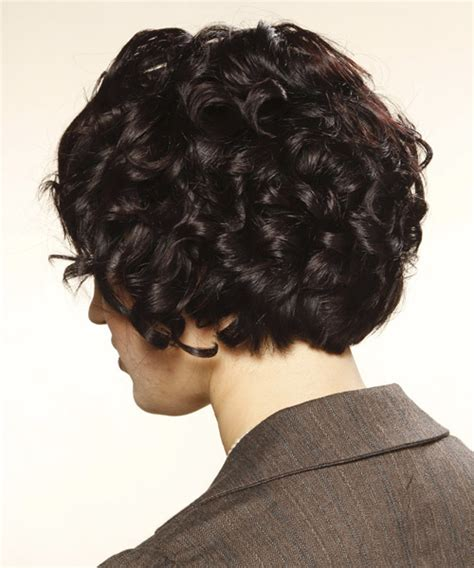 curly blunt cut short hair cuts back view short curly formal hairstyle with blunt cut bangs mocha