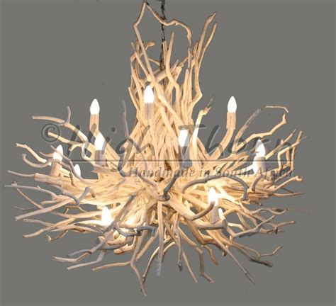 White Twig Chandelier High Twig Disk Chandeliers Handmade In South