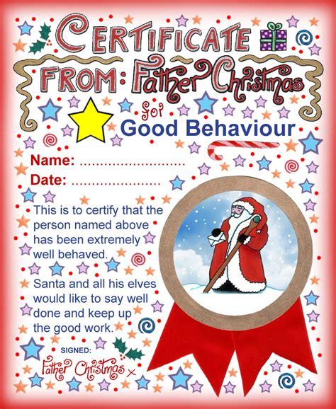 santa claus certificate template santa certificate behaviour rooftop post printables