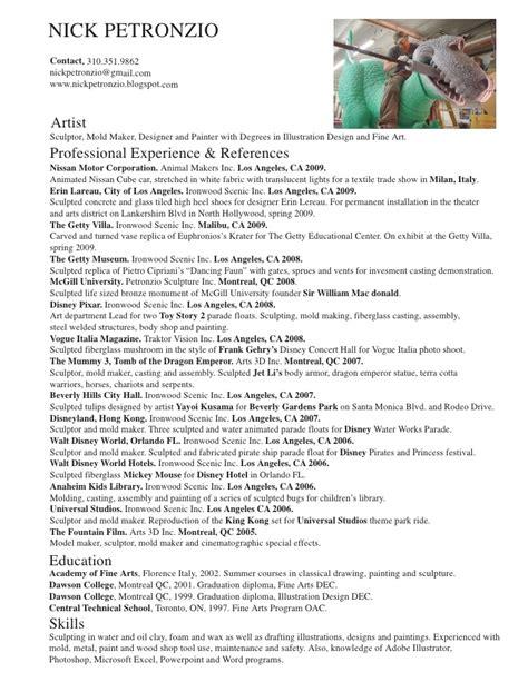 Sample Painter Resume by Nick Petronzio Resume Amp Portfolio