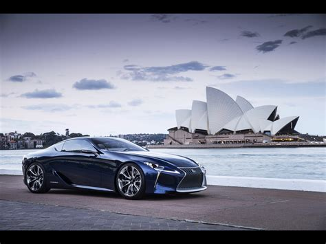 lexus lf lc blue 2012 lexus lf lc blue concept static side angle wallpapers