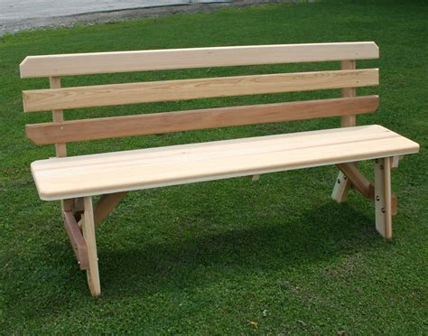 red cedar bench 42 quot wide red cedar traditional picnic table w backed benches