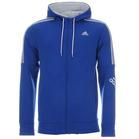 Switer Sweater Jaket Sweatshirt Realmadrid adidas 3 stripe logo zip hoody mens blue white