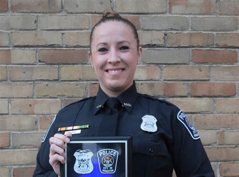 whmi  local news kristi pace named brighton police officer   year