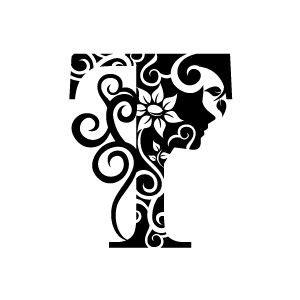 black and white pattern letter flower clipart alphabet and backgrounds on pinterest