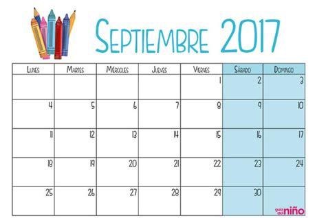 septiembre calendario escolar 2017 2018 para imprimir