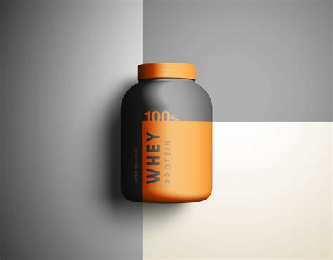 supplement jars whey protein jar mockup