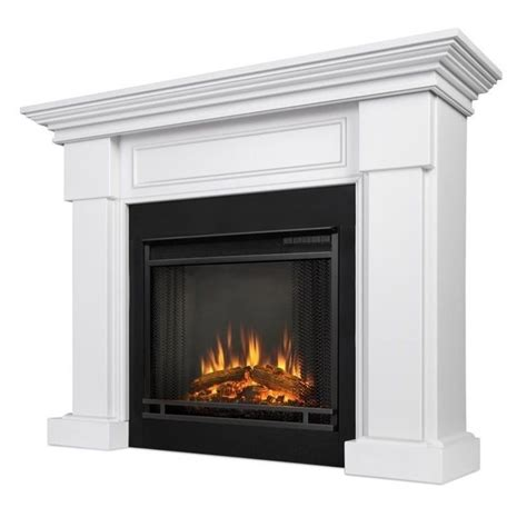 real hillcrest electric fireplace white 7910e w