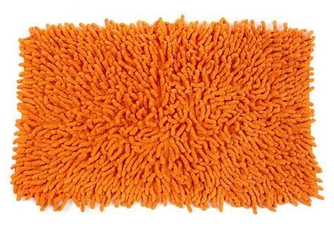 shaggy orange rug shag bath rug orange