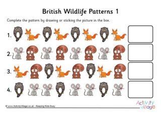 animal pattern worksheets for kindergarten animal pattern worksheets