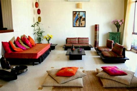 indian low seating interior design ideas for style living