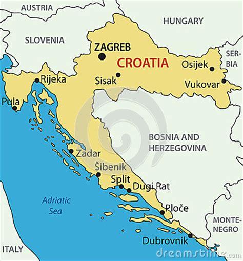 croatia map vector republic of croatia vector map stock photos image