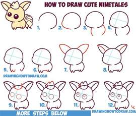 How To Draw A Step By Step Easy How To Draw Kawaii Chibi Ninetales From