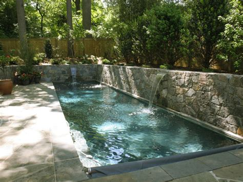 how to build a lap pool lap pool with sheer descent waterfalls and retaining walls