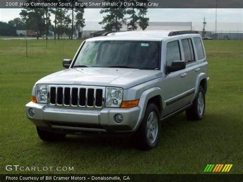 jeep commander silver bright silver metallic 2008 jeep commander sport