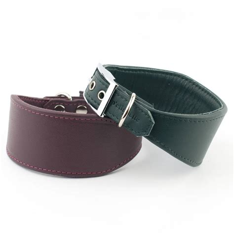 Handmade Whippet Collars - handmade leather whippet greyhound collar by petiquette