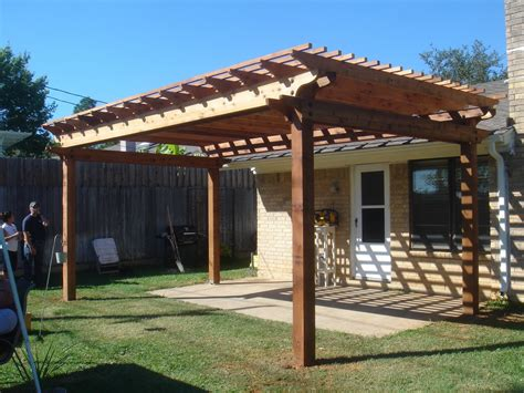 pergola for small backyard inside out living 1st pergola build