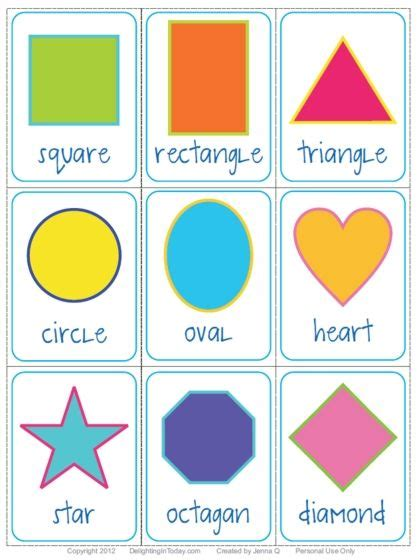 printable toddler learning flash cards free shape flashcards download and printable delighting