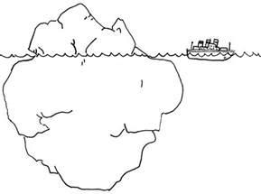 desenho iceberg fundo mar colorir tudodesenhos