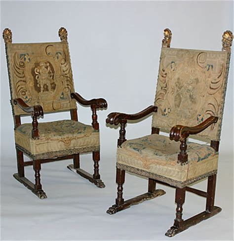 renaissance upholstery pair of italian renaissance period armchairs