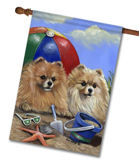 pomeranian house pomeranian house flag 28 x 40 custom printed flags flagology