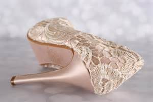 Blush Pink Bridal Shoes by The Gallery For Gt Blush Lace Wedding Shoes