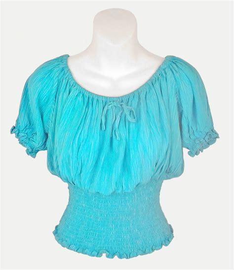 sarongsetc sleeve crinkle peasant blouse