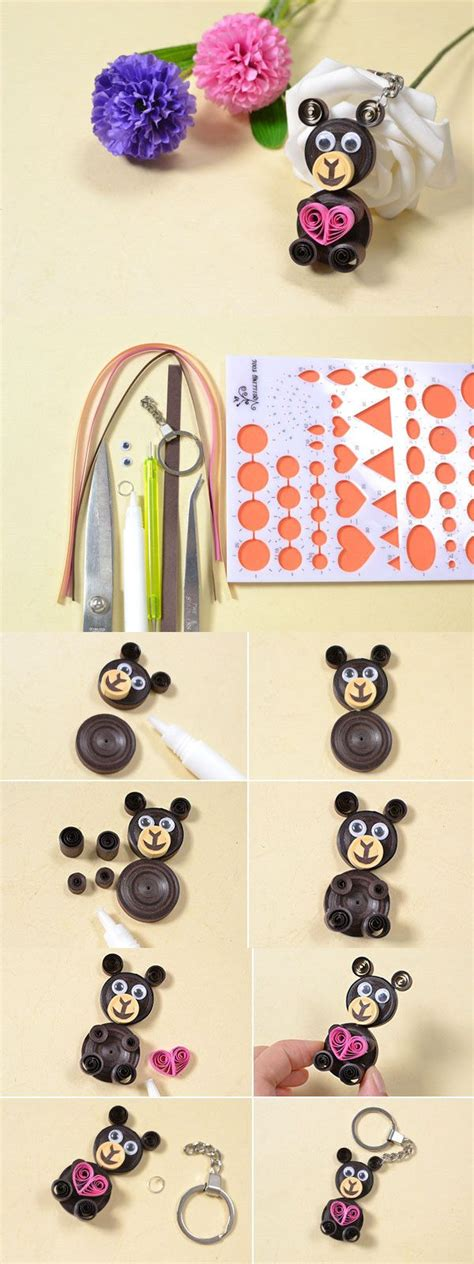 quilling easy tutorial making easy cute quilling paper bear crafts for kids