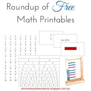 printable montessori math materials 17 best images about montessori math on pinterest place