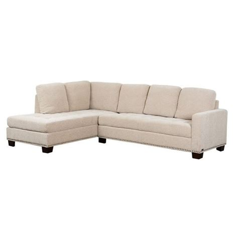 linen sectional abbyson living macalea linen sectional in cream ci