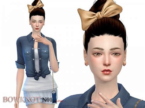 s club mk ts4 bow tie the sims resource bowknot 01 by s club sims 4 downloads