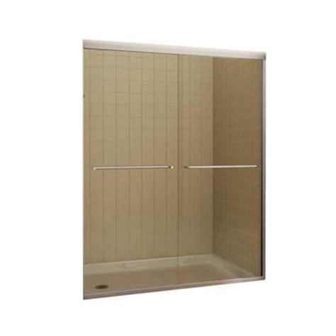 Keystone Shower Doors Parts Keystone By Maax Tonik 2 Panel Frameless Shower Door 59 1 2 Inches Model 104184 900 084 000