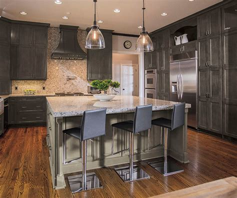 slate grey kitchen cabinets weathered slate finish on maple contemporary rendering