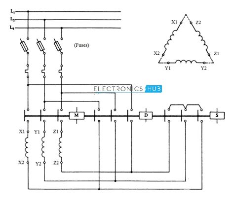 delta starter circuit diagram explanation