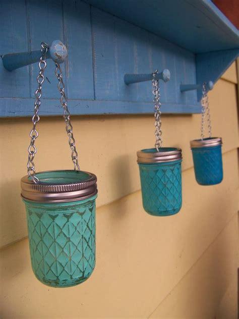 Teal Votive Candle Holders Hanging Jar Votive Candle Holder Teal Turquoise