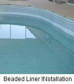 beaded pool liner installation above ground pool ends