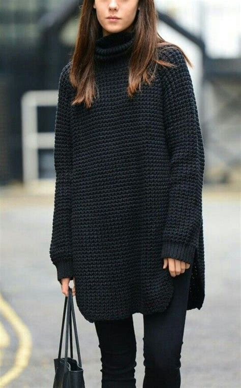Nera Tunik viernes de inspiraci 243 n the black sweater turtleneck o