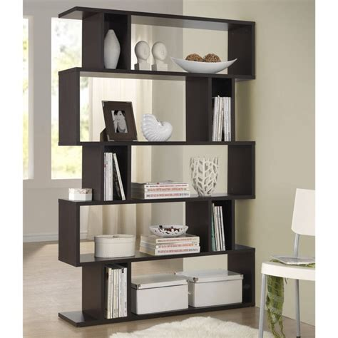 furniture of america tali contemporary 2 tone leaning writing desk bookshelves bookcases a collection by dorothy favorave