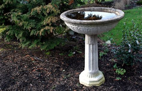 how deep should a bird bath be