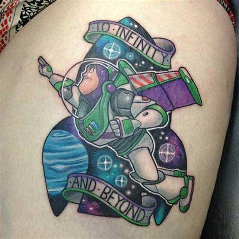 buzz lightyear tattoo 55 story tattoos that would make pixar proud tattooblend