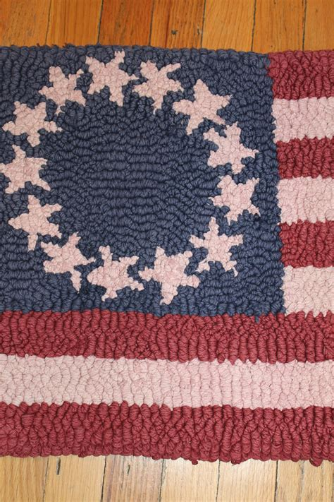 latch rugs american flag small latch hook rug collectors weekly
