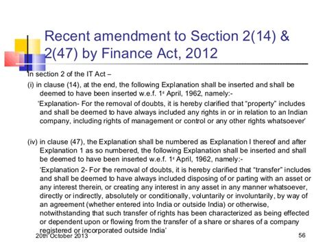 section 2 47 of income tax act andheri e study circle non resident taxation 20 10 2013