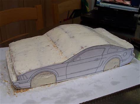 car cake template just outta the oven mustang bullit car cake tutorial
