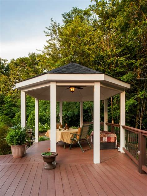 deck gazebo deck gazebo home design ideas pictures remodel and decor