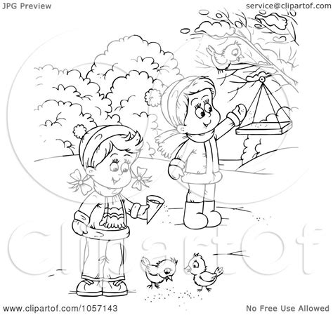 feeding ducks coloring page royalty free clip art illustration of a coloring page