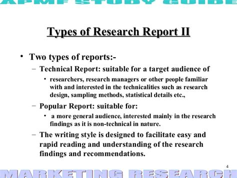 Types Of Report Writing In Research Methodology by Research Report Ppt