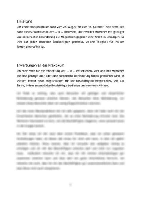 Praktikum Vorbericht Vorlage Praktikumsbericht Soziale Arbeit In Einer Behindertenwerkstatt Tagesablauf Reflexion Und